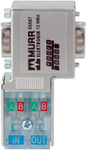 PROFIBUS-PLUG-MALE (SUB-D) 90° WITH PG