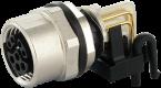 M12 female receptacle 90° Y-cod. solder terminal