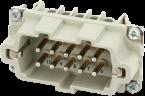 B10 male 10-pole, screw t., 500 V, 16 A