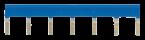 Potentialschiene blau