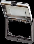 Modlink MSDD Einbaurahmen 2-fach metallic