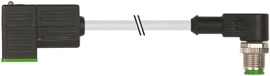 M12 male 90° / MSUD valve plug form CI 9,4mm