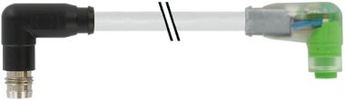 M8 St. 90° snap-in / M8 Bu. 90° snap-in LED