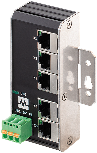 Xenterra 5TX unmanaged Switch wallmounted 5 Port 100Mbit
