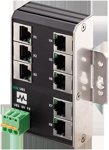 Xenterra 8TX unmanaged Switch Wandmontage 8 Port 100Mbit WM