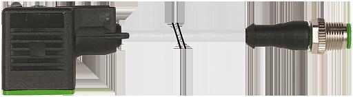 M12 male 0° / MSUD valve plug form B 10mm
