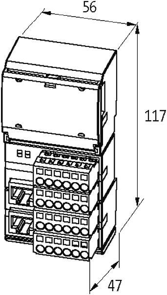 impact20 profinet io  digital in output module at